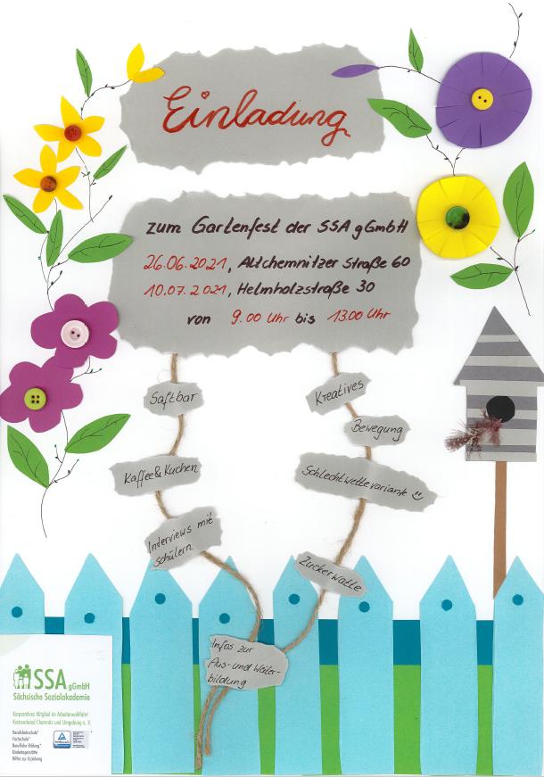 Gartenfest 26.06.2021 und 10.07.2021